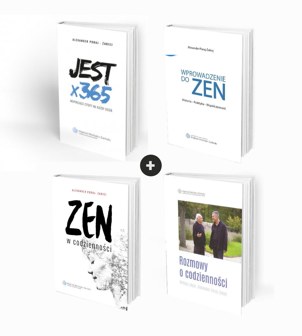 Pakiet książek o ZEN Fundacji: Wprowadzenie do ZEN + Rozmowy o codzienności + Zen w codzienności + JEST x 365